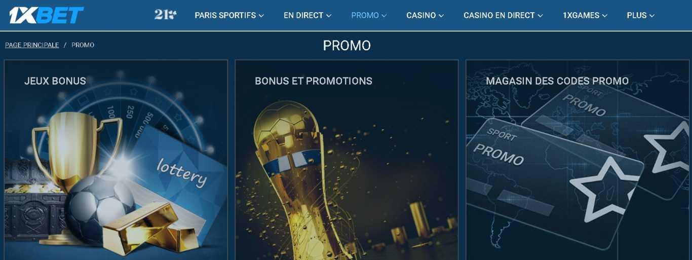 1xBet bonuses with promo code