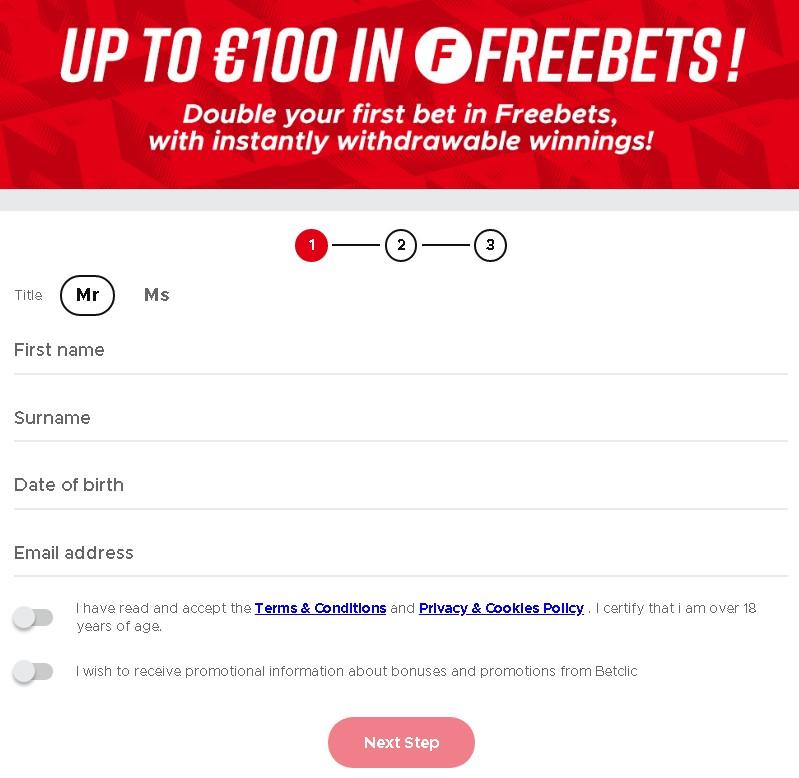 Betclic freebet with promo code